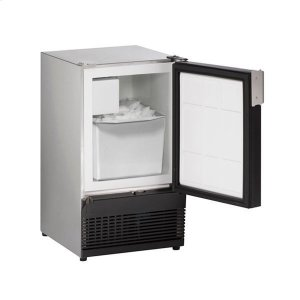"U-LineSs98nf 15"" Crescent Ice Maker With Stainless Solid Finish (115 V/60 Hz Volts /60 Hz Hz)"