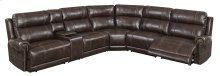 Stella Brown Leather Gel Reclining Sectional