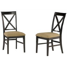 Lexi Dining Chairs Set of 2 with Cappuccino Cushion in Espresso