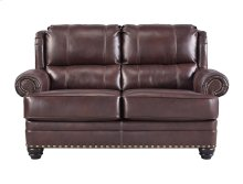 HOT BUY CLEARANCE!!! Leather Match Loveseat, Chestnut