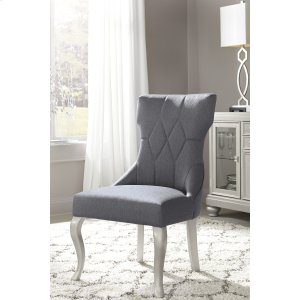 AshleySIGNATURE DESIGN BY ASHLEYCoralayne - Silver Finish Set Of 2 Dining Room Chairs