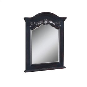 Belle Foret 40 in. L x 28 in. W Wall Mirror in Hand Rubbed Black