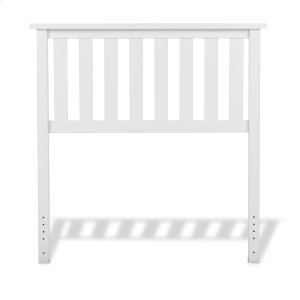 Fashion Bed GroupBelmont Wood Headboard Panel with Flat Top Rail and Slatted Grill Design, White Finish, Twin