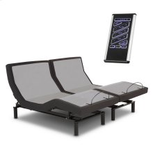 P-132 Foundation Style Adjustable Bed Base with LPConnect and (8) USB Ports, Black Finish, Split King