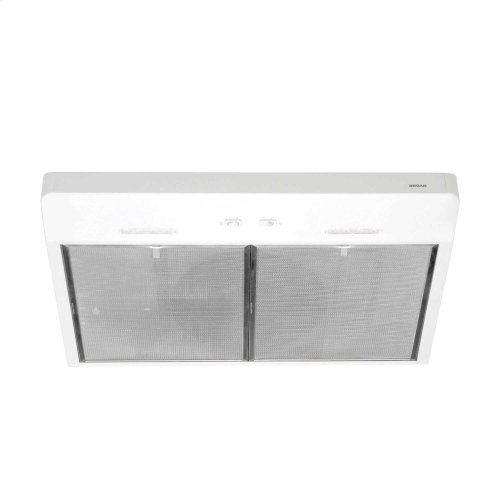 Corteo 30-Inch 250 CFM White Range Hood with LED light
