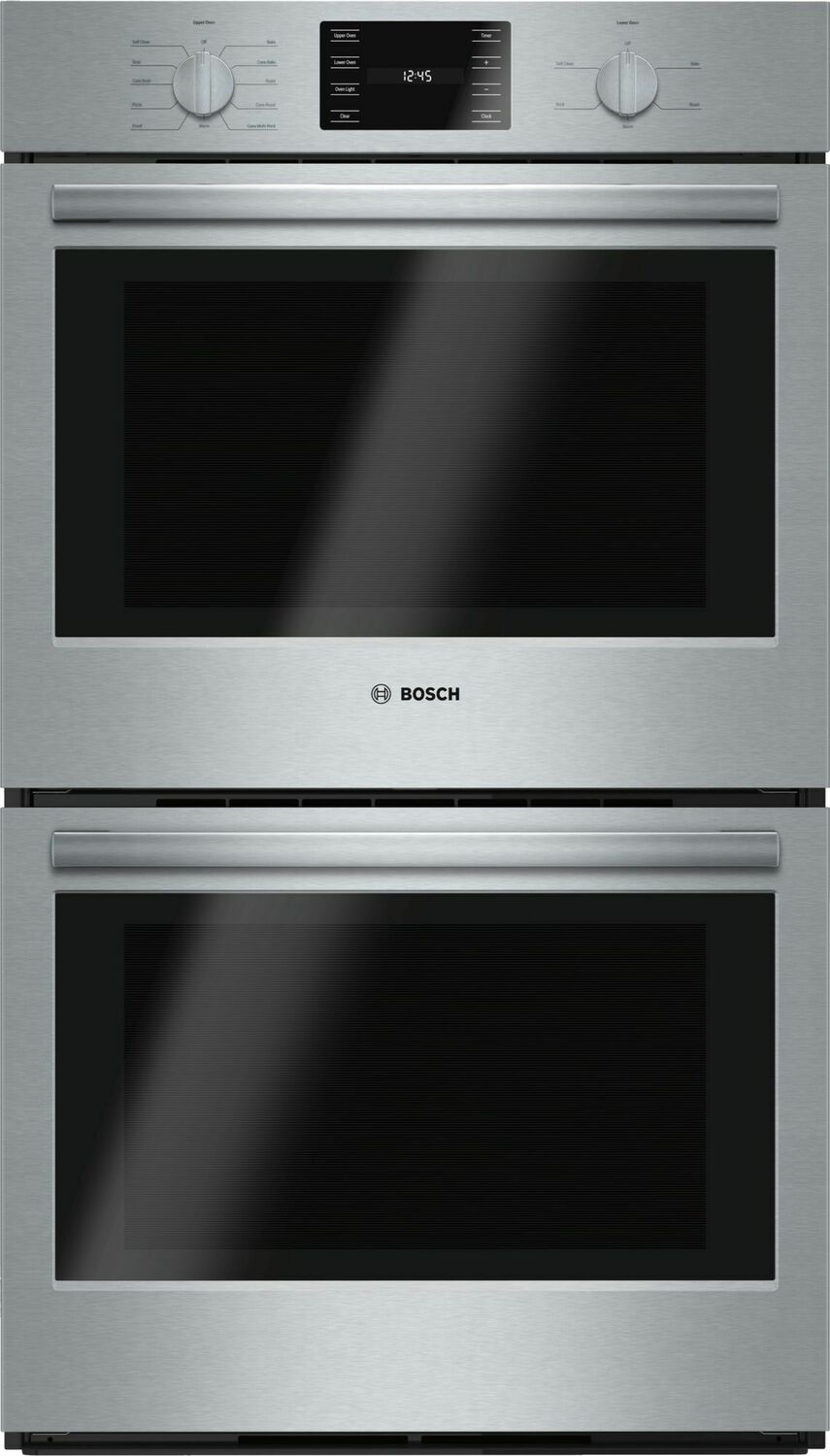 """Bosch500 Series, 30"""", Double Wall Oven, Ss, Eu Conv./thermal, Knob Control"""