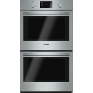 "BOSCH500 Series, 30"", Double Wall Oven, SS, EU conv./Thermal, Knob Control"
