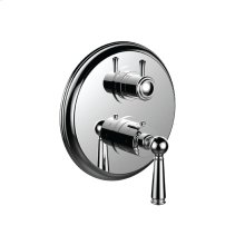 """7099ep-tm - 1/2"""" Thermostatic Trim With Volume Control and 3-way Diverter in Bright Pewter"""