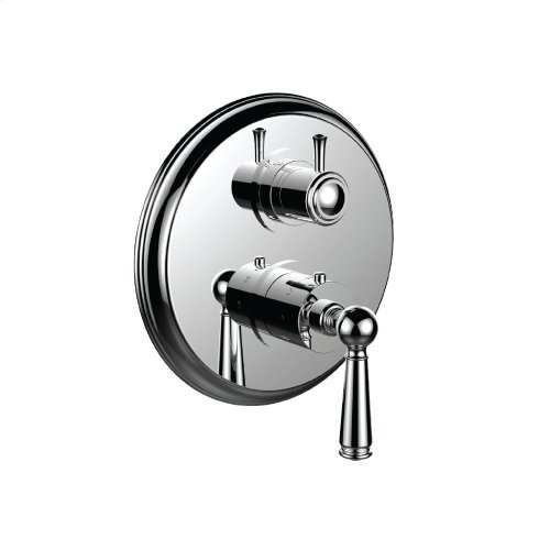 "7099ep-tm - 1/2"" Thermostatic Trim With Volume Control and 3-way Diverter in Polished K Gold"