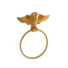 Antique Gold Cherub Towel Ring