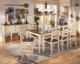 Whitesburg - Brown/Cottage White Set Of 6 Dining Room Chairs