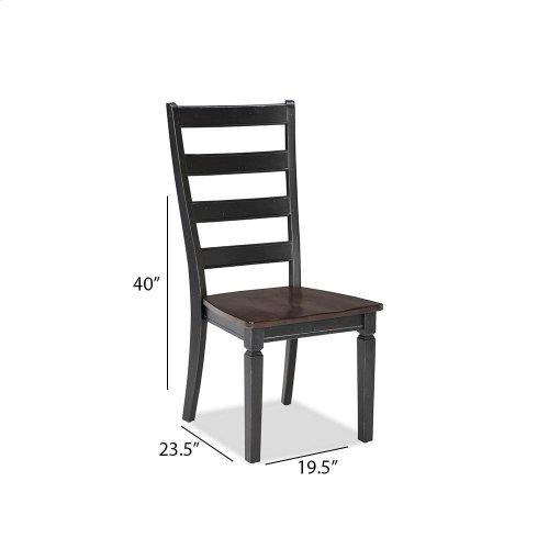 Glennwood Side Chair  Black & Charcoal