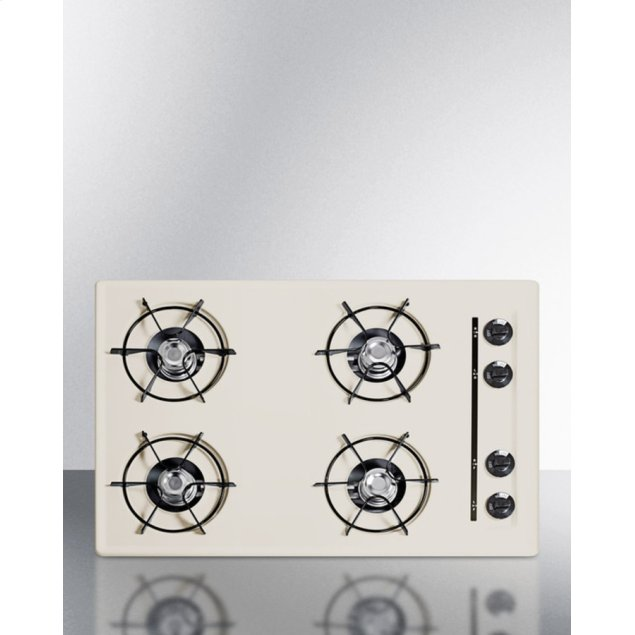 """Summit 30"""" Wide Cooktop In Bisque, With Four Burners and Battery Start Ignition; Replaces Stl05p"""