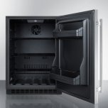 Summit Built-in Undercounter ADA Compliant All-refrigerator With Stainless Steel Exterior, Door Storage, Lock, and Digital Controls