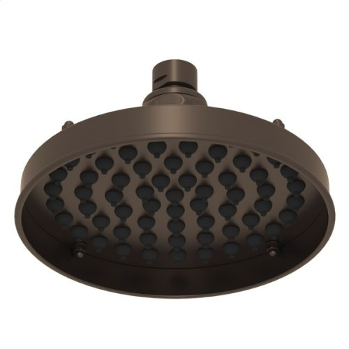 "Tuscan Brass 6"" Retro Jet Single-Function Rain Showerhead"