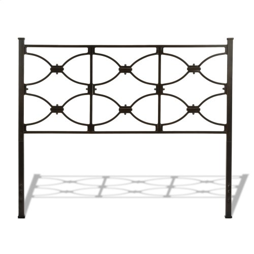 Marlo Bed with Metal Panels and Squared Finial Posts, Burnished Black Finish, Full