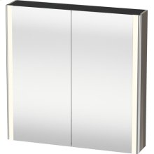 Mirror Cabinet, Flannel Gray High Gloss Lacquer