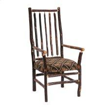 Hickory High Back Spoke Back Arm Chair - Standard Fabric