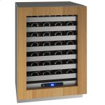 """U-LINE24"""" Wine Refrigerator With Integrated Frame Finish and Field Reversible Door Swing (115 V/60 Hz Volts /60 Hz Hz)"""