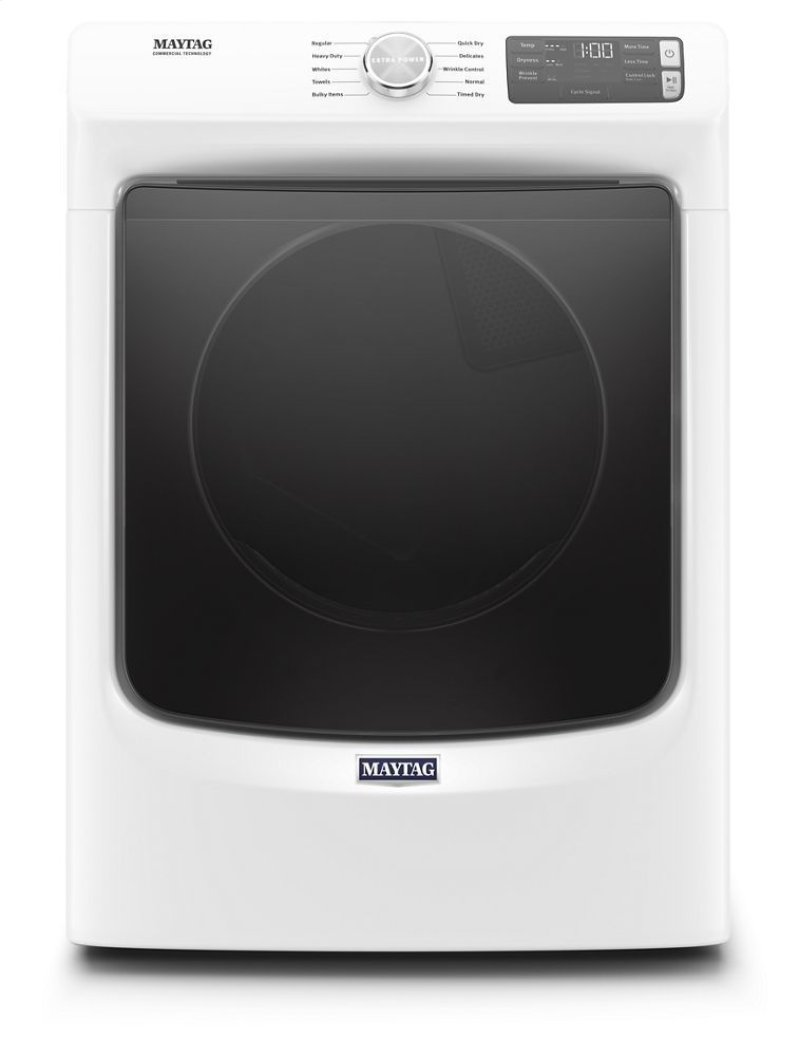 Front Load Electric Dryer with Extra Power and Quick Dry cycle - 7 3 cu  ft