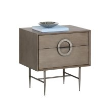 Emery Nightstand - Grey