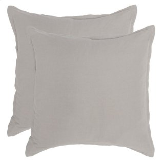 Arcadia Dove Gray 2Pc Euro Sham Set