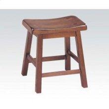 "Walnut 18"" Solid Wood Stool"