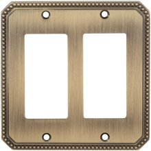 Double Rocker Beaded Switchplate in (SB Shaded Bronze, Lacquered)