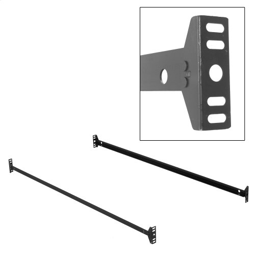 75-Inch 145B Black Bed Frame Side Rails with Bolt-On Brackets for Headboards and Footboards, Twin / Full