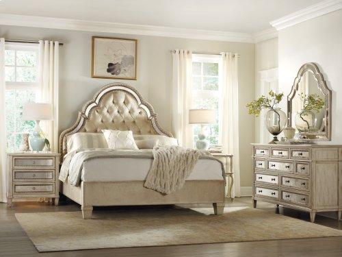 Bedroom Sanctuary Queen Upholstered Bed-Pearl Essence