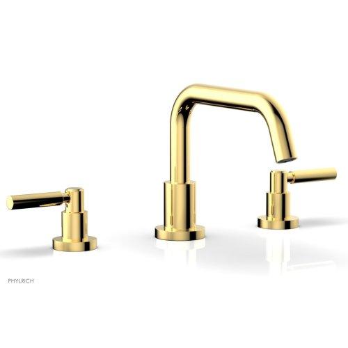 BASIC Deck Tub Set - Lever Handles D1132D - Polished Gold