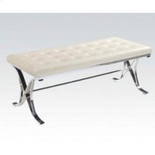 Beige Pu/chrome Bench