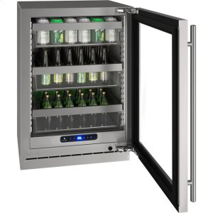 "U-Line5 Class 24"" Refrigerator With Stainless Frame Finish and Field Reversible Door Swing (115 Volts / 60 Hz)"