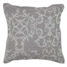 Lido Jacquard Charcoal 2Pc Euro Sham Set
