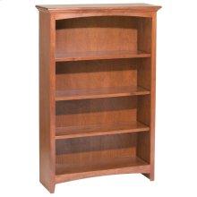 """GAC 48""""H x 30""""W McKenzie Alder Bookcase"""