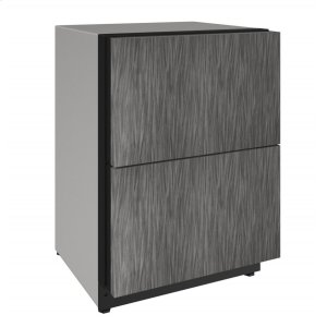 "U-LINE2000 Series 24"" Solid Refrigerator Drawers With Integrated Solid Finish and Drawers Door Swing (115 Volts / 60 Hz)"
