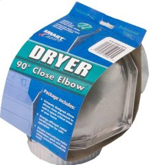 Close Elbow Dryer Vent - 90 Degree