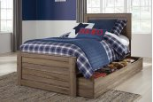 Javarin - Grayish Brown 5 Piece Bed Set (Twin)