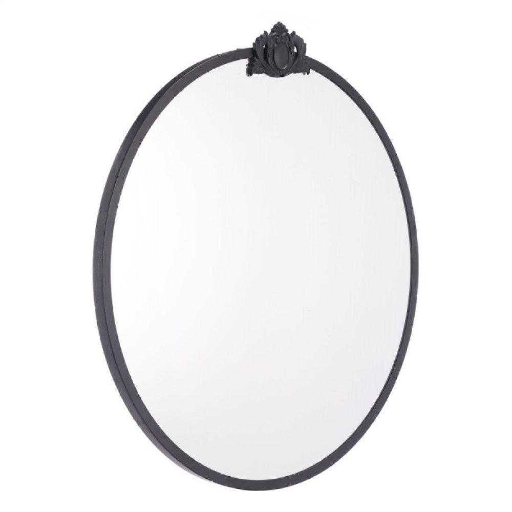 Empire Round Mirror Black