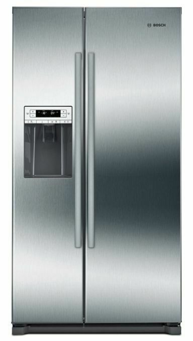 Bosch300 Series Freestanding Counter-Depth Side-By-Side Refrigerator 36'' Easy Clean Stainless Steel B20cs30sns