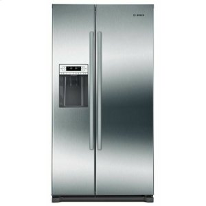 Bosch300 Series Freestanding Counter-Depth Side-by-Side Refrigerator Easy clean stainless steel B20CS30SNS