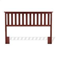 Belmont Wooden Headboard Panel with Slatted Grill Design, Merlot Finish, Full / Queen