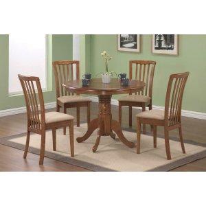 CoasterBrannan Casual Oak Dining Five-piece Set