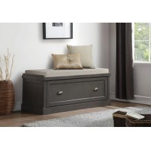 GRAY BENCH W/STORAGE