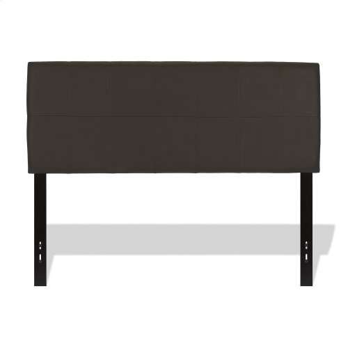 Bronson Faux Leather Upholstered Headboard with Adjustable Height, Mocha Finish, Twin