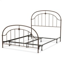 Cascade Complete Bed with Metal Panels and Twisted-Rope Rail, Ancient Gold Finish, King