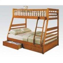 Kit-h. Oak T/f Bunk Bed W/2drw