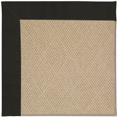 Creative Concepts-Cane Wicker Canvas Black Machine Tufted Rugs