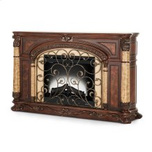 Fireplace W/insert Light Espresso