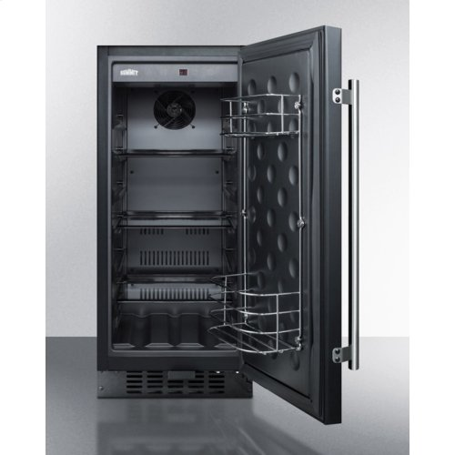 "15"" Wide All-refrigerator for Built-in or Freestanding Use, With Digital Controls, LED Light, Lock, and Black Exterior Finish; Replaces Ff1538b"